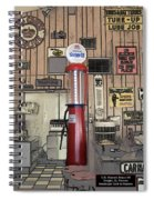 Us Route 66 Smaterjax Dwight Il Gas Pump 01 Pa 02 Spiral Notebook