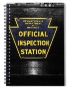 Us Route 66 Smaterjax Dwight Il Official Inspection Signage Spiral Notebook