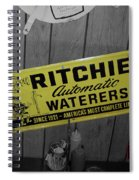Us Route 66 Smaterjax Dwight Il Rare Waterers Signage Spiral Notebook
