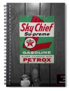 Us Route 66 Smaterjax Dwight Il Sky Chief Supreme Signage Spiral Notebook