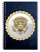 Vice Presidential Service Badge On Blue Velvet Spiral Notebook