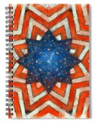 Usa Abstract Spiral Notebook
