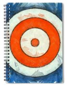 Usa Flag Abstract Spiral Notebook