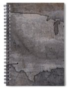Usa Map Outline On Concrete Wall Slab Spiral Notebook