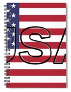 Usa On The American Flag Spiral Notebook