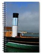 Usa Paddle Steamer Eppleton Hall Newcastle Spiral Notebook