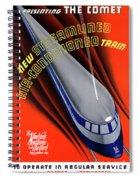 Usa The Comet Vintage Travel Poster Restored Spiral Notebook