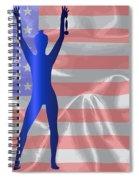 Usa Winner Background Spiral Notebook