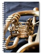 Used Old Trumpet, Closeup Spiral Notebook