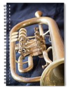 Used Old Trumpet. Vertically. Spiral Notebook