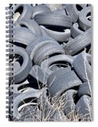 Used Tires At Junk Yard Spiral Notebook