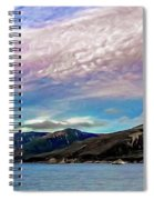 Ushuaia, Ar, Clouds Over Mountains Spiral Notebook