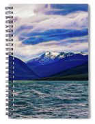 Ushuaia Ar Ocean Mountains Clouds Spiral Notebook