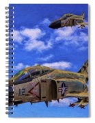 Usn F-4 Phantom II Over Vietnam - Oil Spiral Notebook