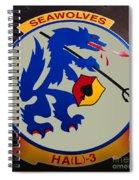 Usn Seawolves Logo Spiral Notebook