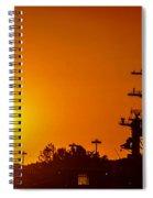 Uss Carl Vinson At Sunset 3 Spiral Notebook