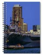 Uss Midway San Diego Ca Spiral Notebook