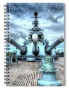 Uss North Carolina, Bb 55, Stern, 16 Inch Guns Spiral Notebook
