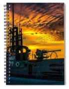 U.s.s. Silversides Sunset Spiral Notebook