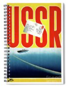 Ussr Vintage Cruise Travel Poster Restored Spiral Notebook