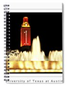 Ut Tower Poster Spiral Notebook