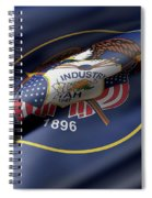 Utah State Flag Spiral Notebook