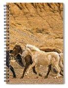 Ute Mountain Wild Horses On The Run Spiral Notebook