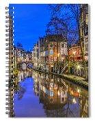Utrecht From The Bridge By Night Spiral Notebook