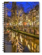 Utrecht Old Canal By Night Spiral Notebook