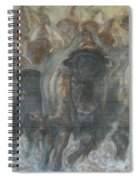 Uttc Buffalo Mural Right Panel Spiral Notebook
