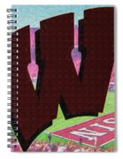 Uw Game Day Poster - Oil Spiral Notebook