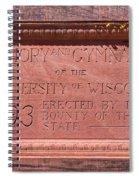 Uw Red Gym Plaque Spiral Notebook
