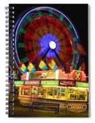 Vacant Carnival Bench Spiral Notebook