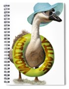 Vacation Time For Summer Goose Spiral Notebook