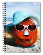 Vacationing Jack-o-lantern Spiral Notebook