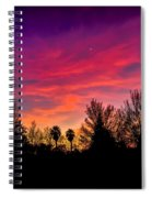 Vacaville Sunset Silhouette  Spiral Notebook