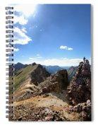 Valecito And Chicago Basins From Mt Jupiter - Weminuche Wilderness - Colorado Spiral Notebook