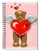 Valentine Bear Spiral Notebook