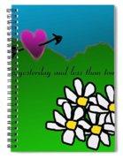 Valentine Card Spiral Notebook