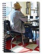 Valentine Diner Interior Spiral Notebook