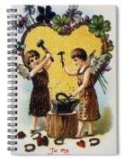 Valentines Day Card, 1900 Spiral Notebook