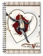 Valentines Day Card, 1909 Spiral Notebook