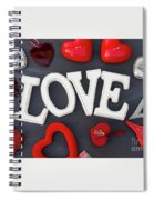 Valentines Day Hearts Spiral Notebook
