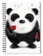 Valentine's Panda Spiral Notebook