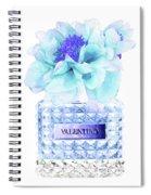Valentino Blue Perfume Spiral Notebook