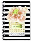 Valentino Perfume With Flower Spiral Notebook