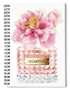 Valentino Pink With Peony Spiral Notebook