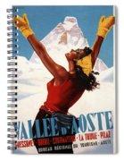 Vallee D'aoste - Aosta Valley, Italy - Retro Travel Poster - Vintage Poster Spiral Notebook