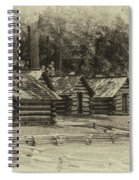 Valley Forge Barracks In Sepia Spiral Notebook