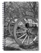 Valley Forge Battery Blackened White Spiral Notebook